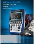 Rohde & Schwarz представляет новый портативный анализатор спектра - R&S Spectrum Rider с хорошими РЧ характеристики и высокой точностью измерений для работы